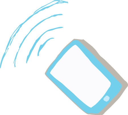Sketch of a WIFI device like tablet or smartphone in vector Illustration