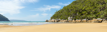 wilsons promontory: Sealers Cove beach at low tide in Wilsons Promontory National Park, Victoria, Australia Stock Photo