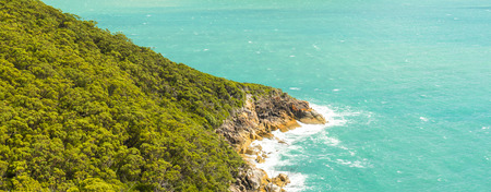 wilsons promontory: View of headland landscape from hiking trail in Wilsons Promontory National Park, Victoria, Australia