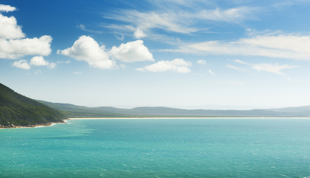wilsons promontory: Landscape view of Five Mile Beach in Wilsons Promontory National Park, Victoria, Australia