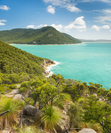 wilsons promontory: Landscape view of trail between refuge cove and sealers cove in Wilsons Promontory National Park, Victoria, Australia