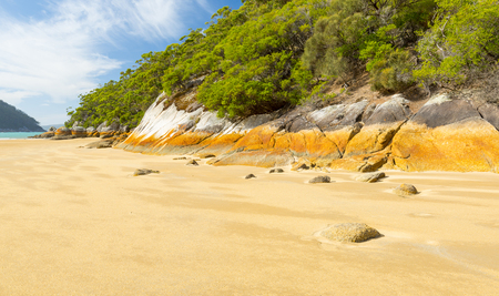 wilsons promontory: Australian beach at Sealers Cove, Wilsons Promontory National Park, Victoria