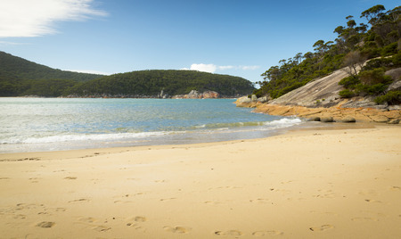 wilsons promontory: Secluded coastline of Refuge Cove in Wilsons Promontory National Park, Victoria, Australia Stock Photo