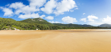 wilsons promontory: Panorama of Sealers Cove landscape in Wilsons Promontory National Park, Victoria, Australia