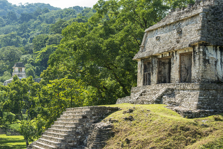 PALENQUE, MEXICO - NOVEMBER 29: Ancient Mayan structures at the heritage site on November 29, 2016 in Palenque. Palenque was declared a world heritage site by UNESCO in 1987. Editorial