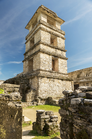 PALENQUE, MEXICO - NOVEMBER 29: The Palace, one of the Mayan buiding ruins on November 29, 2016 in Palenque. Palenque was declared a world heritage site by UNESCO in 1987. Editorial
