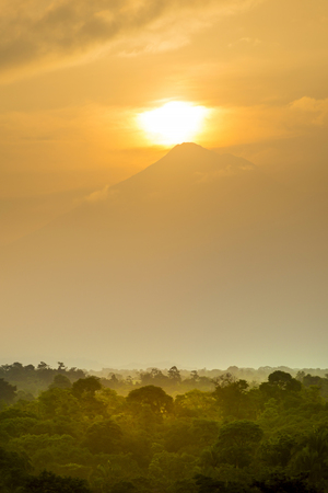 Sunset view of Volcan Tajumulco, Guatemala the highest mountain in Central America