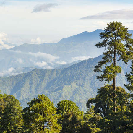 Landscape scenic of mountains around San Marcos in Guatemala Imagens