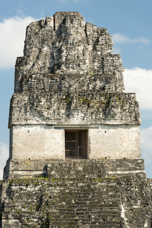 Temple 1, also known as the Jaguar Temple, in Tikal National Park, Guatemala in Central America Stock Photo