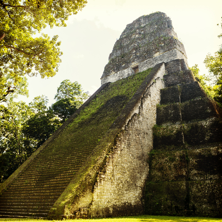 Temple 5 in famous Tikal National Park, Guatemala Stock Photo