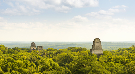 Tikal in Guatemala, an ancient Mayan city in ruins surrounded by jungle Stock Photo - 98415242