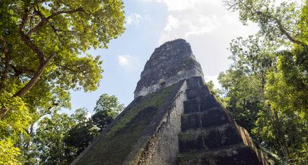 Temple 5 in famous Tikal National Park, Guatemala Stock Photo