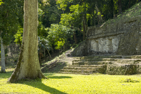 Buildings in the Mayan city of Tikal in Guatemala