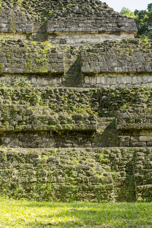 Details of the pyramids in the Mayan city of Tikal, Guatemala