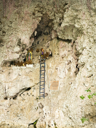 Shrine of the Virgin of Guadalupe at the Cave of Colours in the Sumidero Canyon Chiapas Mexico