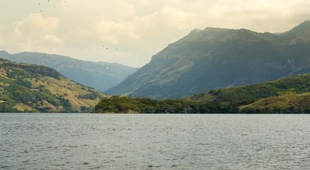 Landscape view of the Chicoasen Dam in Chiapas Mexico