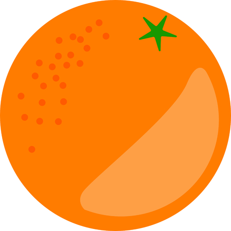 Orange fruit vector in flat design style isolated 矢量图像
