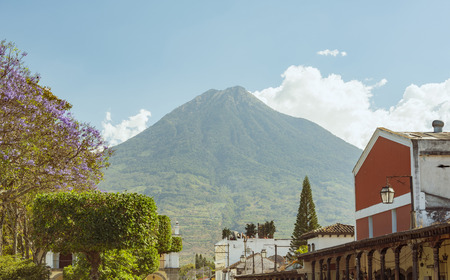 Spanish colonial views in Antigua, Guatemala