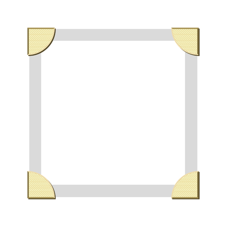 Vintage vector style photos corners to hold photo edges in a photo album