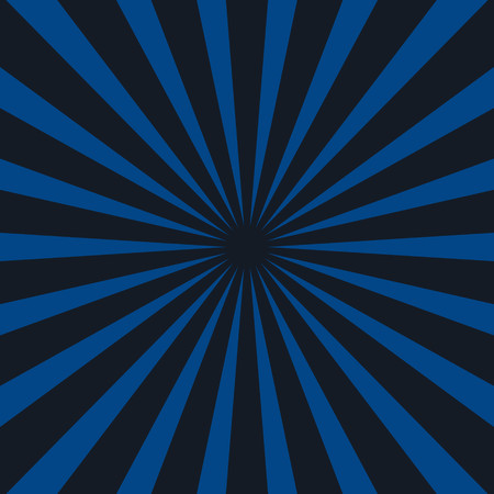 Sunrays background vector in blue and black
