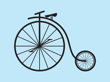 Classic vintage penny farthing bicycle vector Illustration