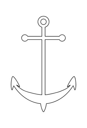 Line drawing vector of an anchor icon