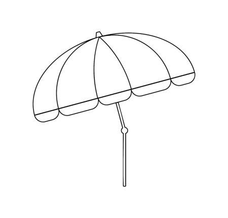 Line drawing vector of a beach umbrella