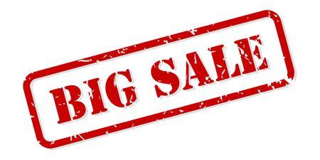 Großer Verkauf roter Stempelvektor isoliert