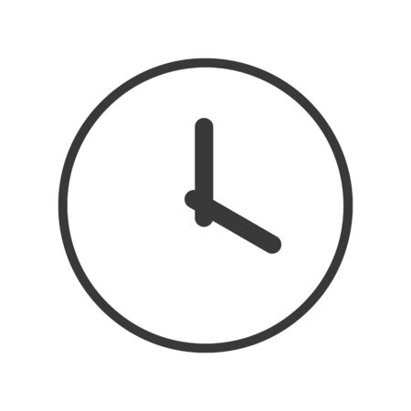 Clock icon in simple vector style