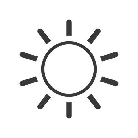 Screen brightness sun icon in vector