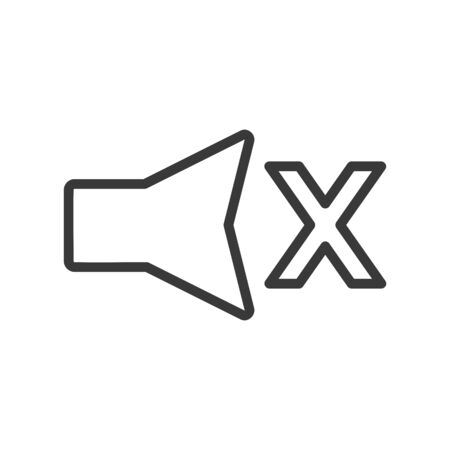 Mute audio icon in simple vector style