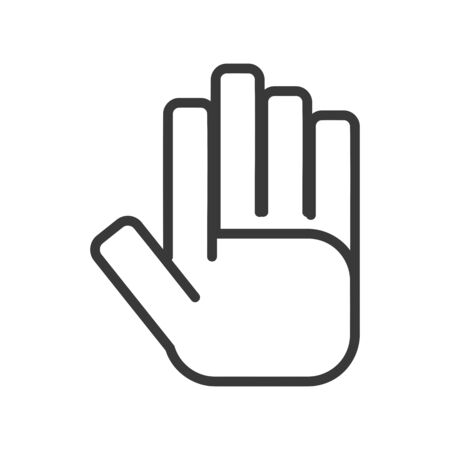 Hand icon in simple vector style 일러스트