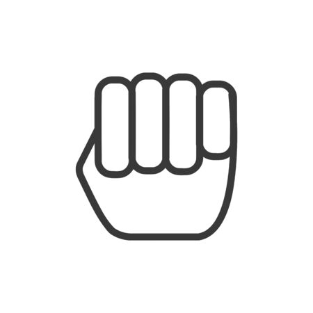 Fist icon in simple vector style
