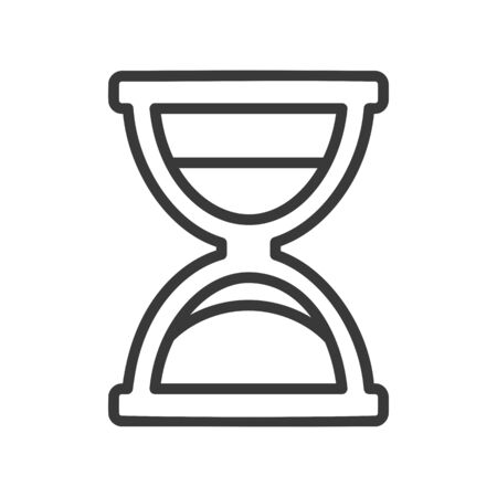 Hourglass icon for computer interface in vector