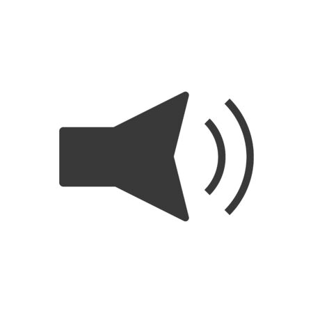 Volume down indicator icon in simple vector style Imagens - 131960495