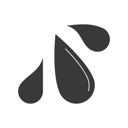 Water droplet splash icon in vector Ilustracje wektorowe