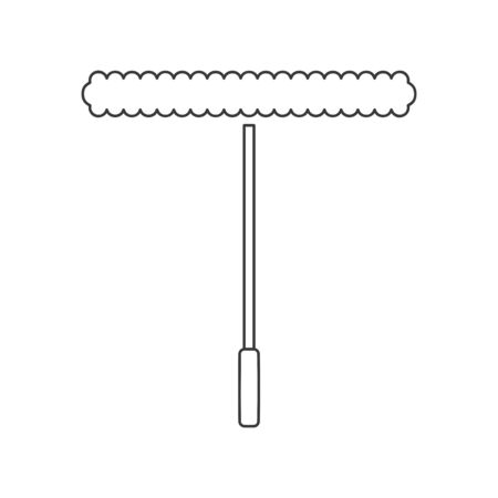 Window cleaning or washing applicator icon in vector line drawing