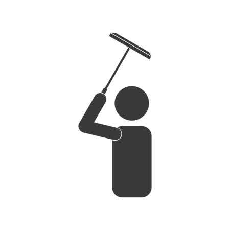 Window cleaner or washer icon in vector Иллюстрация