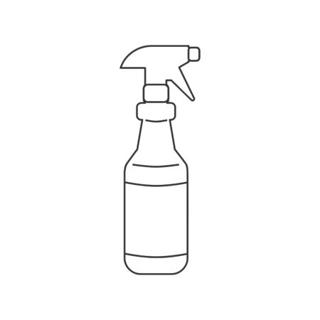 Spray bottle with trigger icon in vector line drawing