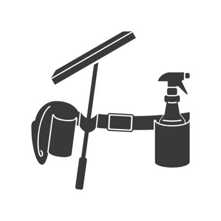 Window cleaning or washing belt icon in vector Иллюстрация