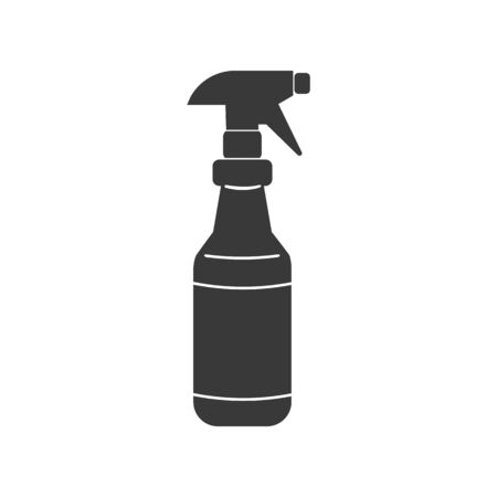 Spray bottle with trigger icon in vector