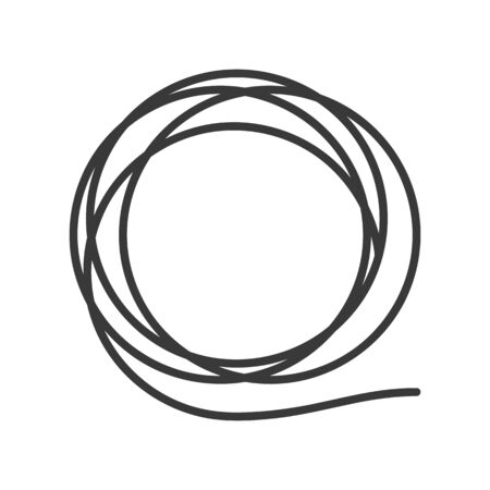 Hose or wire icon coiled in a circle in vector Illusztráció