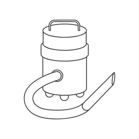 Vacuum cleaner icon for industrial style vacuum in vector line drawing