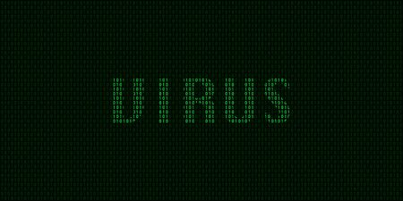 Virus concept with binary code in vector Illustration