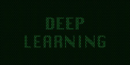 Deep learning concept with binary code in vector