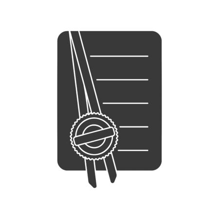 A notarized document with apostille seal icon vector