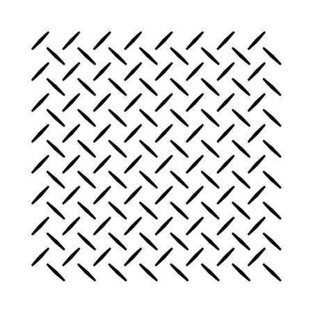 Checker plate or diamond plate anti slip pattern in vector Vecteurs