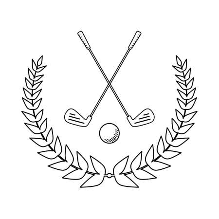 Design for a golf club tournament or championship in vector