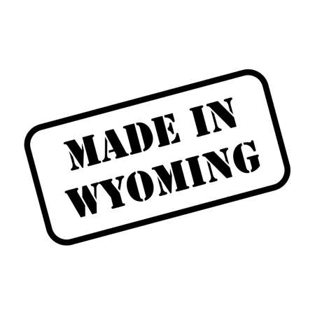 Made in Wyoming state sign in rubber stamp style vector