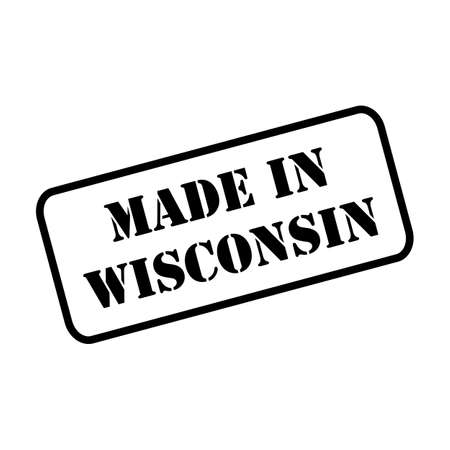 Made in Wisconsin state sign in rubber stamp style vector Ilustração